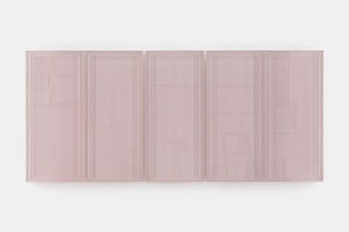 Rachel Whiteread, Untitled (Pinboard), 2019 Resin and steel, in 3 parts, overall: 43 ⅜ × 96 ⅞ × 4 inches (110 × 246 × 10 cm)© Rachel Whiteread. Photo: Prudence Cuming Associates
