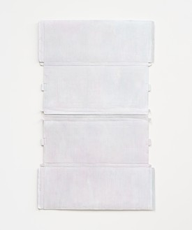 Rachel Whiteread, Untitled (Pink Relief), 2020–21 Hand-painted bronze, in 2 parts, overall: 41 ⅜ × 25 ⅜ inches (105 × 64.5 cm)© Rachel Whiteread. Photo: Prudence Cuming Associates