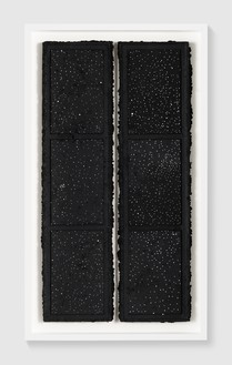 Rachel Whiteread, Untitled (Night Drawing), 2018 Gouache and ink on papier-mâché, in 2 parts, overall: 38 ¼ × 20 ⅛ inches (97 × 51 cm)© Rachel Whiteread. Photo: Prudence Cuming Associates