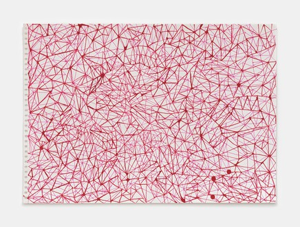 Rachel Whiteread, Blood Red and Pink Triangles (March–Sept), 2020 Ink on watercolor paper, 11 ¾ × 16 ⅝ inches (29.7 × 42 cm)© Rachel Whiteread. Photo: Prudence Cuming Associates