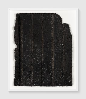 Rachel Whiteread, Untitled (Night Drawing), 2018 Gouache and ink on papier-mâché, 30 ¾ × 24 ½ inches (78 × 62 cm)© Rachel Whiteread. Photo: Prudence Cuming Associates