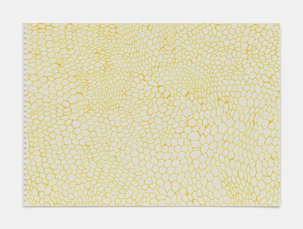 Rachel Whiteread, Yellow and Yellow (March–Sept), 2020 Ink on watercolor paper, 11 ¾ × 16 ⅝ inches (29.7 × 42 cm)© Rachel Whiteread. Photo: Prudence Cuming Associates