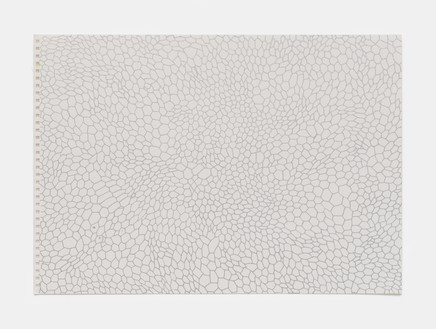 Rachel Whiteread, Silver (March–Sept), 2020 Ink on watercolor paper, 11 ¾ × 16 ⅝ inches (29.7 × 42 cm)© Rachel Whiteread. Photo: Prudence Cuming Associates