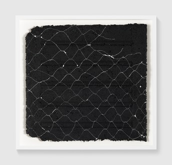 Rachel Whiteread, Untitled (Night Drawing), 2018 Gouache and ink on papier-mâché, 24 ½ × 25 ⅝ inches (62 × 65 cm)© Rachel Whiteread. Photo: Prudence Cuming Associates