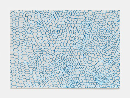 Rachel Whiteread, Turquoise (March–Sept), 2020 Ink on watercolor paper, 8 ⅞ × 12 ⅝ inches (22.5 × 32 cm)© Rachel Whiteread. Photo: Prudence Cuming Associates