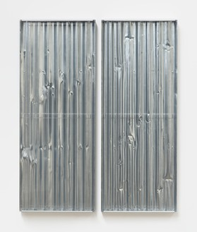 Rachel Whiteread, Untitled (Mirror Mirror), 2021 Resin, aluminum spray, and steel, in 2 parts, overall: 59 ⅞ × 49 ¼ × 3 ⅝ inches (152 × 125 × 9 cm)© Rachel Whiteread. Photo: Prudence Cuming Associates