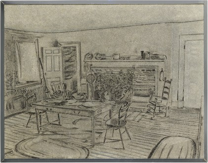 Richard Artschwager, The Kitchen, 1971 Acrylic on Celotex, in metal artist's frame, 46 ¼ × 59 × 1 inches (117.5 × 149.9 × 2.5 cm)© 2021 The Estate of Richard Artschwager/Artists Rights Society (ARS), New York
