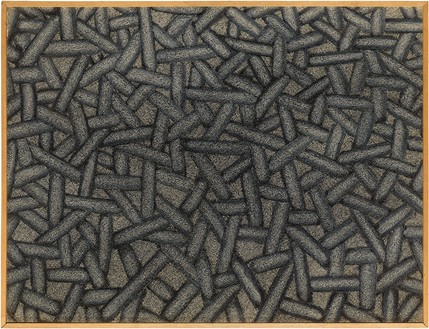 Richard Artschwager, Weaving, 1969 Acrylic on Celotex, in wood artist's frame, 23 ¼ × 30 ⅜ × 1 ⅝ inches (59.1 × 77 × 4 cm)© 2021 The Estate of Richard Artschwager/Artists Rights Society (ARS), New York