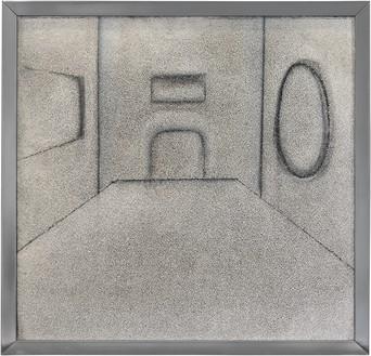 Richard Artschwager, Interior, 1964 Acrylic on Celotex, in metal artist's frame, 32 ¾ × 33 ⅞ × 1 ¼ inches (83 × 86 × 3 cm)© 2021 The Estate of Richard Artschwager/Artists Rights Society (ARS), New York
