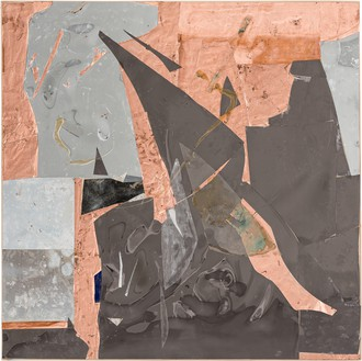 Rudolf Polanszky, Reconstructions / Choros / Ecliptics, 2020 Copper foil, aluminum, resin, silicone, acrylic glass, mirrored foil, and acrylic on wood, in artist's frame, 59 ¾ × 59 ½ inches (151.6 × 150.9 cm)© Rudolf Polanszky. Photo: Jorit Aust