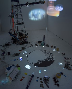 Sarah Sze, Travelers by Streams and Mountains, 2021