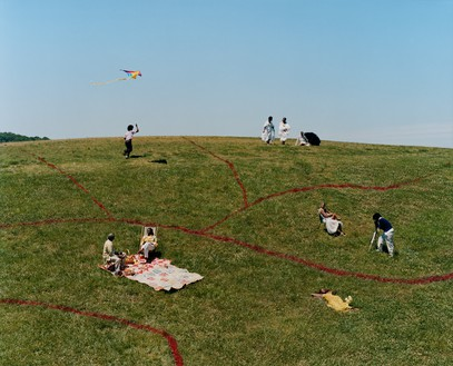 Tyler Mitchell, Georgia Hillside (Redlining), 2021 Archival pigment print, 63 × 78 inches (160 × 198.1 cm), edition of 3 + 2 AP© Tyler Mitchell