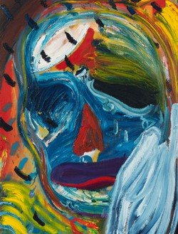 Spencer Sweeney, Weeping Ghoul, 2021 Oil on linen, 40 × 30 ½ inches (101.6 × 77.5 cm)© Spencer Sweeney. Photo: Rob McKeever