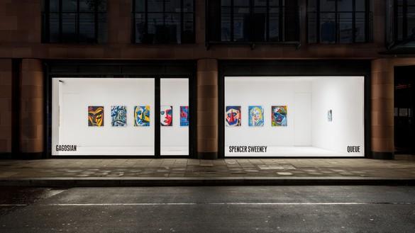 Installation view Artwork © Spencer Sweeney. Photo: Lucy Dawkins