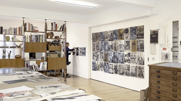 Tatiana Trouvé in her studio, Paris, 2021 Artwork © Tatiana Trouvé. Photo: Pushpin Films
