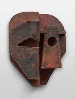 Thomas Houseago, Lava Mask, 2021 Bronze, 15 ⅞ × 12 ⅝ × 4 ⅞ inches (40.5 × 32 × 12.6 cm), edition 1/3 + 2 AP© Thomas Houseago. Photo: Stefan Altenburger