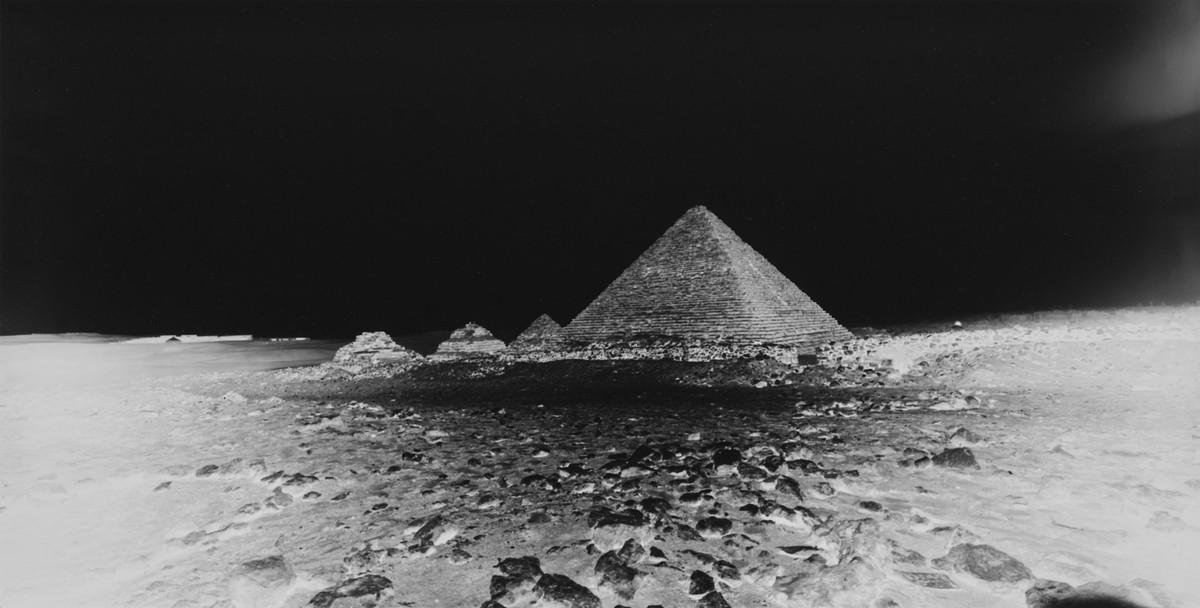 Vera Lutter: Mycerinus Pyramid, Giza: April 22, 2010, 2010
