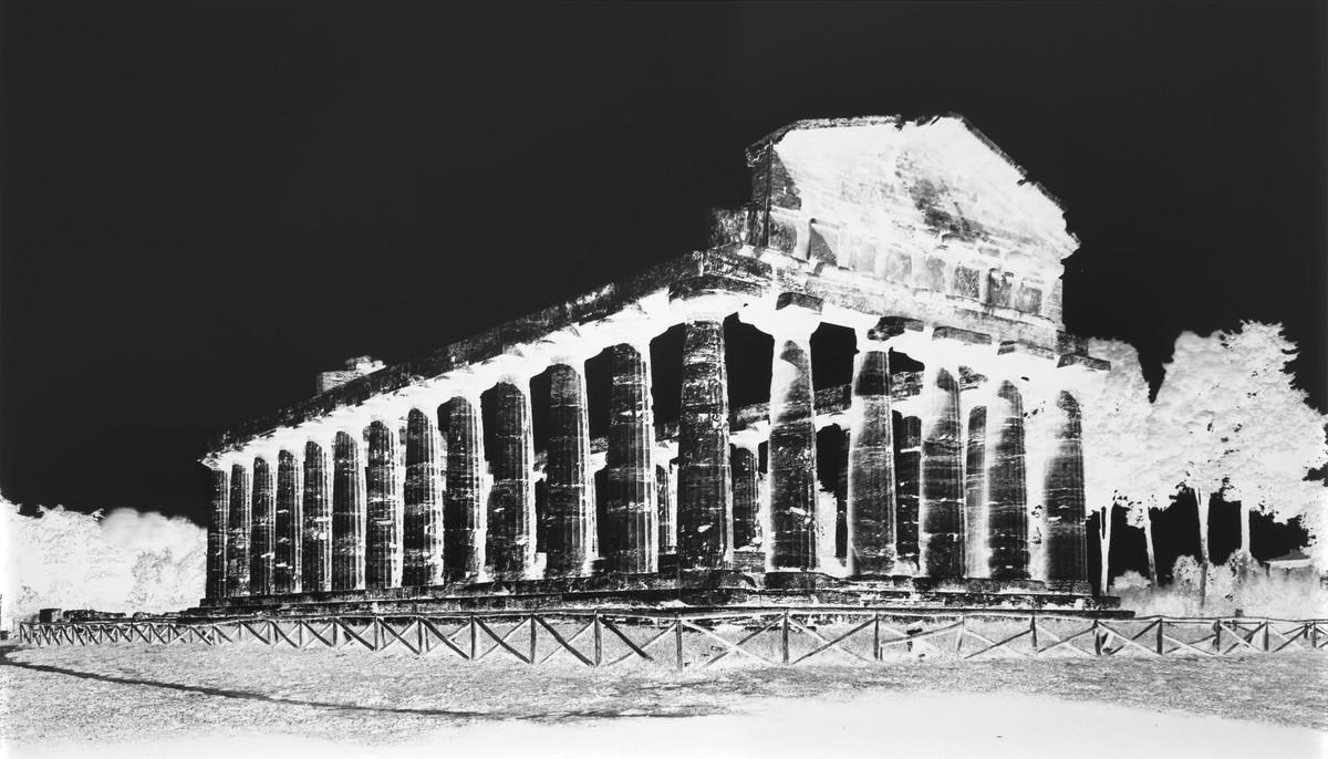 Vera Lutter: Temple of Athena, Paestum IV: October 7, 2015, 2015