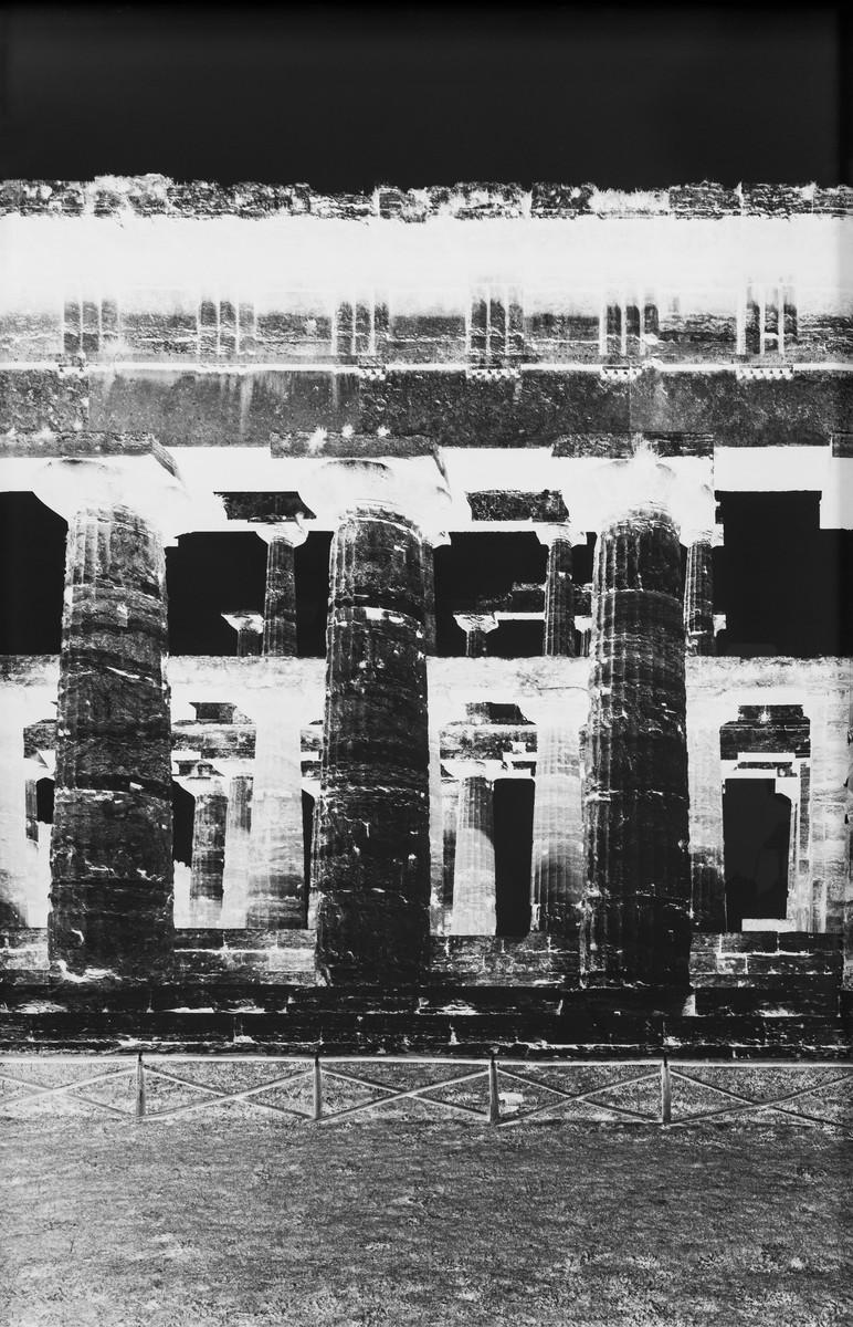 Vera Lutter: Temple of Nettuno, Paestum XXIII: October 25, 2015, 2015