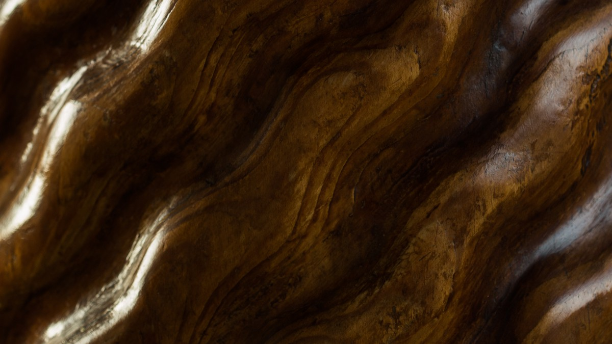 Original walnut and pine table conceived in 1941 by Curzio Malaparte in situ at Casa Malaparte, Capri