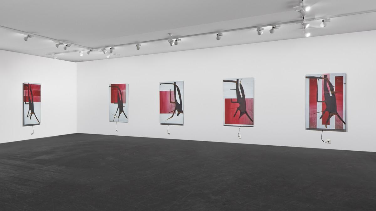 Albert Oehlen, blech_betty, 2017, installation view, Art Basel Unlimited