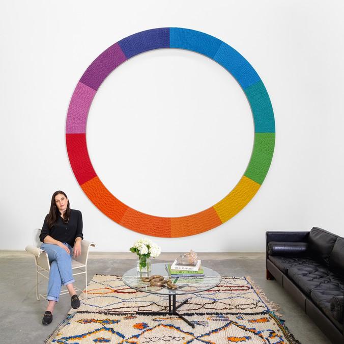Jennifer Guidi in her Los Angeles studio, 2020.