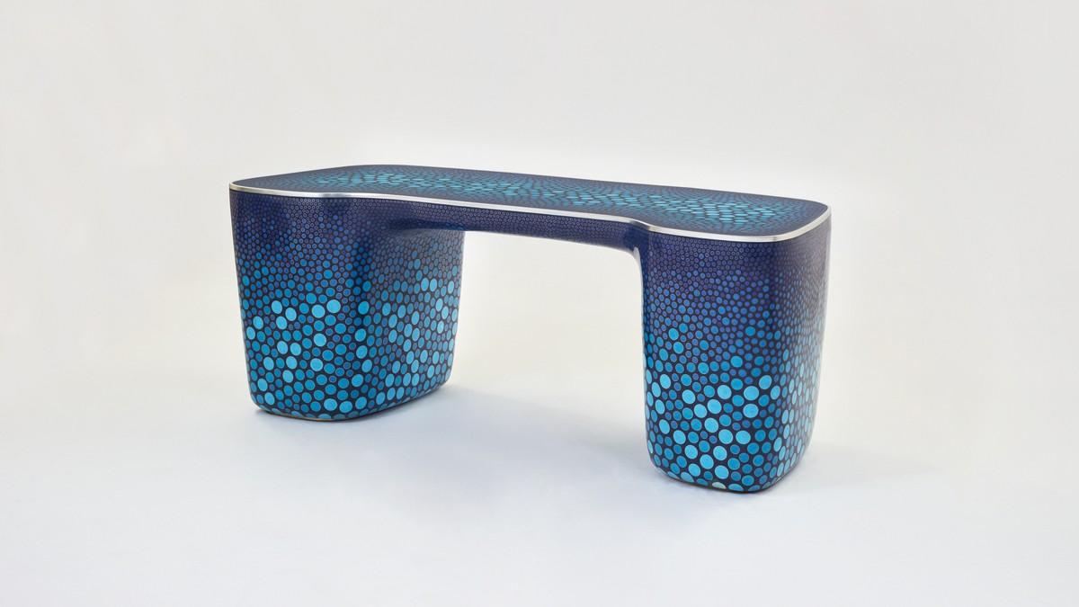 Marc Newson, Cloisonné Blue Desk, 2017
