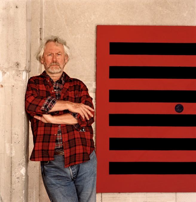 Donald Judd in his architecture studio, Marfa, Texas, 1993