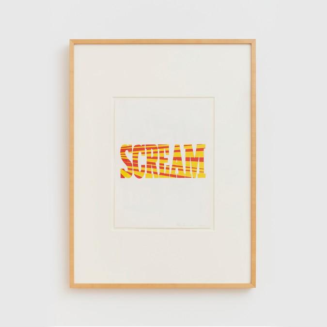Ed Ruscha, Red Yellow Scream, 1964