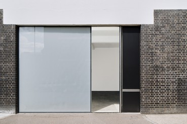 A photograph of the outside of the Gagosian location Britannia Street, London