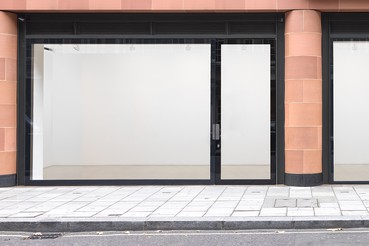 A photograph of the outside of the Gagosian location Davies Street, London