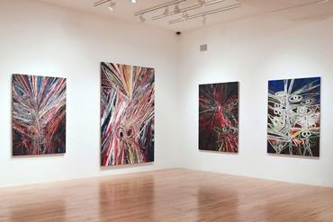 Installation view, Mark Grotjahn, Aspen Art Museum, Colorado, February 17–April 29, 2012. Artwork © Mark Grotjahn