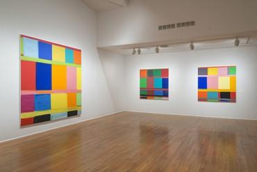 Installation view, Stanley Whitney: Dance the Orange, Studio Museum in Harlem, New York, July 16–October 25, 2015. Artwork © Stanley Whitney