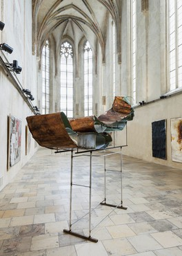 Installation view, Rudolf Polanszky: Translineare Strukturen, Zeit Kunst Niederösterreich, Dominikanerkirche Krems, Austria, May 30–October 18, 2015. Artwork © Rudolf Polanszky. Photo: Christoph Fuchs