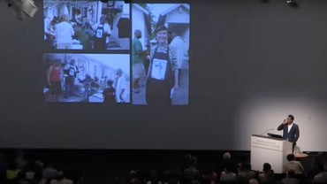 """Still from """"Rick Lowe: Harvard Graduate School of Design 2015 Class Day Lecture"""""""