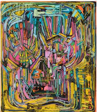 Thomas Houseago, Rainbow I (Psychedelic), 2017