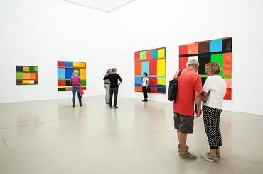Installation view, Documenta 14, Documenta Halle, Kassel, Germany, June 10–September 17, 2017. Artwork © Stanley Whitney