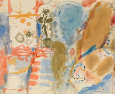 Helen Frankenthaler, Western Dream, 1957, Helen Frankenthaler Foundation, New York © 2017 Helen Frankenthaler Foundation, Inc./Artists Rights Society (ARS), New York. Photo by Rob McKeever