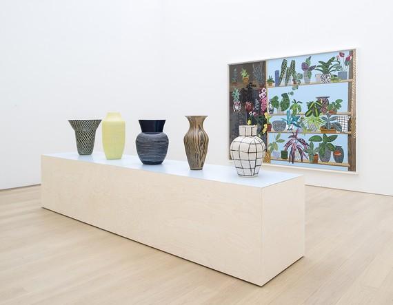 Installation view, Shio Kusaka and Jonas Wood, Musuem Voorlinden, Wassenaar, Netherlands, September 30, 2017–January 7, 2018. Photo by Antoine van Kaam