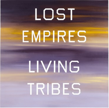 Ed Ruscha, Lost Empires, Living Tribes, 1984, Marciano Collection, Los Angeles