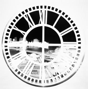 Vera Lutter, Clock Tower, Brooklyn, XLIV: June 22–23, 2009, 2009 © Vera Lutter