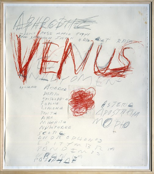 Cy Twombly, Venus, 1975 © Cy Twombly Foundation