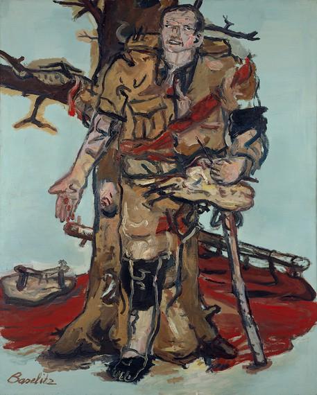 Georg Baselitz, Blocked Painter (Versperrter Maler), 1965 © Georg Baselitz 2017. Photo by Frank Oleski
