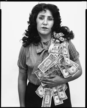 Richard Avedon, Petra Alvarado, factory worker, El Paso, Texas, on her Birthday, April 22, 1982, 1982 © The Richard Avedon Foundation