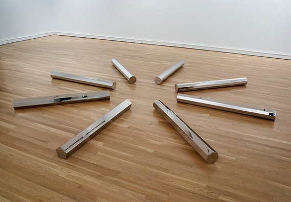 Walter De Maria, Large Rod Series: Circle/Rectangle 5, 7, 9, 11, 13, 1986, San Francisco Museum of Modern Art (Phyllis C. Wattis Fund for Major Accessions) and the Dallas Museum of Art TWO × TWO for AIDS and Art Fund © Estate of Walter De Maria