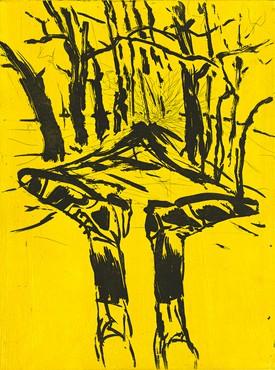 Georg Baselitz, Waldweg, 2004 © Georg Baselitz