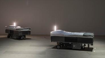 Carsten Höller, Two Roaming Beds, 2016. Photo: Attilio Maranzano