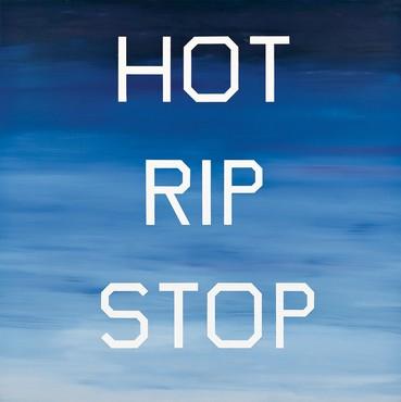 Ed Ruscha, Hot Rip Stop, 1987