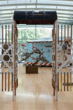 Installation view, Tom Sachs: Tea Ceremony, Nasher Sculpture Center, Dallas, September 16, 2017–January 7, 2018. Photo by Kevin Todora