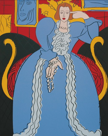 Andy Warhol, Woman in Blue (After Matisse), 1985 © 2017 The Andy Warhol Foundation for the Visual Arts, Inc./Artist Rights Society (ARS), New York